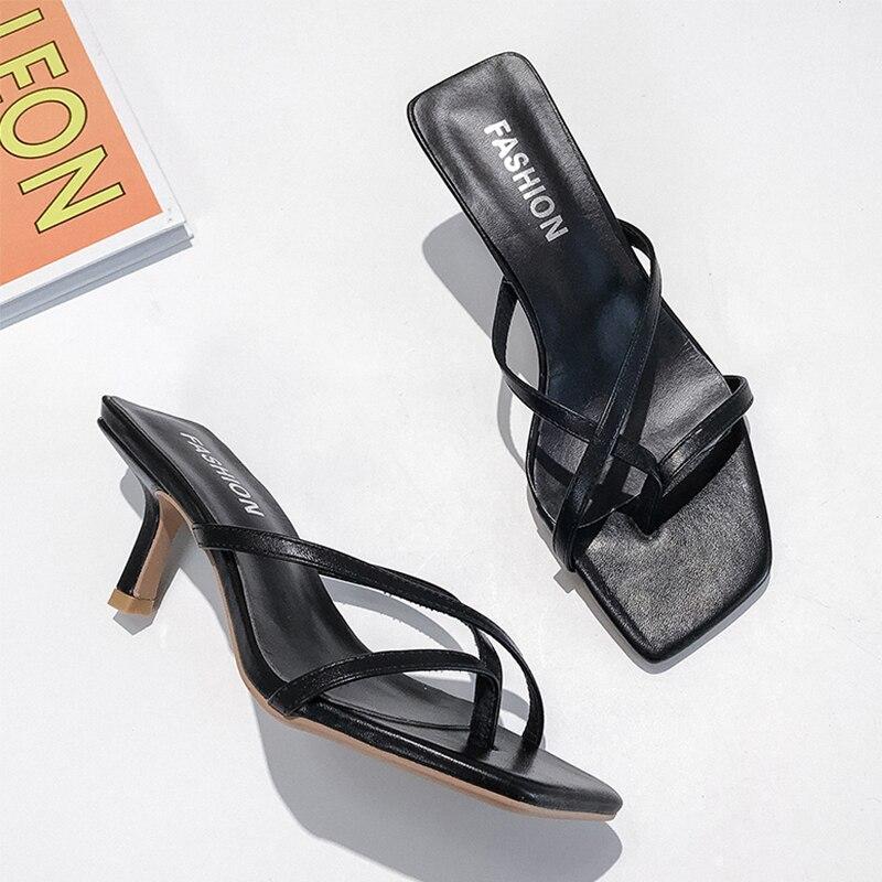 Yellow Sandals Women Fashion High Heels Sandals Ladies Women Shoes Summer 2019 Elegant Sexy Sandals Outdoor Women Slippers