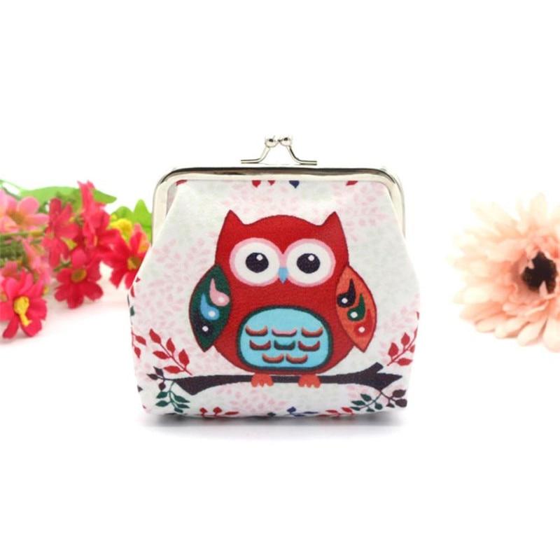 New Owl Wallets Cartoon Printed Small hasp Coin Purses Mini Cute Women Wallet Girls Ladies Purse Card Holder kawaii bag