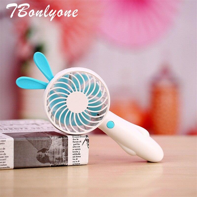 TBonlyone 1200mAh Rabbit Bear Fan For Travel USB Fan for Office Outdoor Baby Battery Rechargeable Fan Mini Fan with Foundation