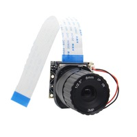 4 6 8mm Latest For Rasberry Pi Adjustable Focus Night Vision 5MP IR Cut Camera For