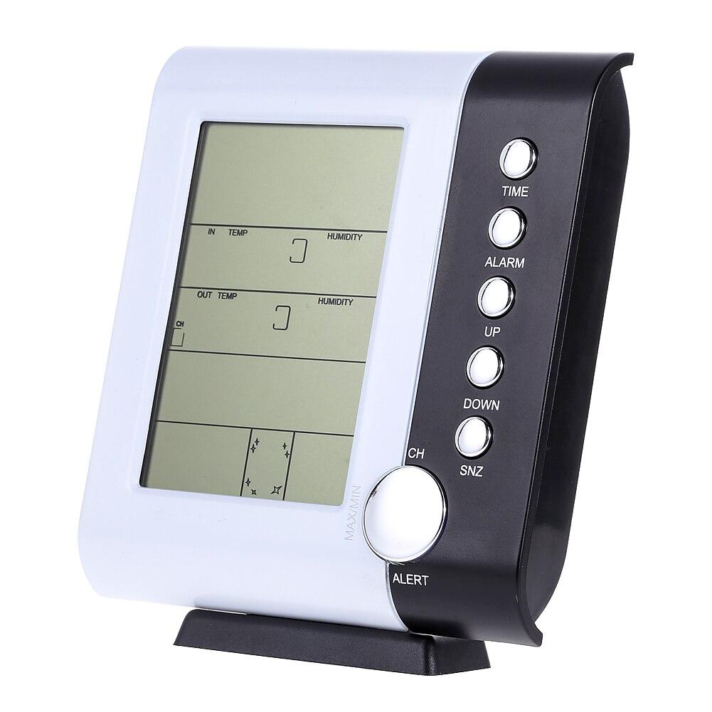 Multi funktion LCD Drahtlose Digitalthermometer Hygromete Wetterstation Wecker Indoor Outdoor Temperatur Luftfeuchtigkeit...