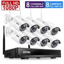 ZOSI 1080 P système de vidéosurveillance sans fil 2MP 8CH puissant NVR IP IR-CUT balle caméra de vidéosurveillance WiFi système de sécurité IP Kits de Surveillance
