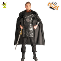 New Game of Thrones Cosplay Jon Snow Costume Night Watch the King of North Cosplay Costume For Halloween Christmas Party