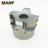 MANF High Feed Face Mill Cutters ASF High Efficiency Machinning Clamped Fast Feeding Milling Head Cuttering For SDNW1505ZD