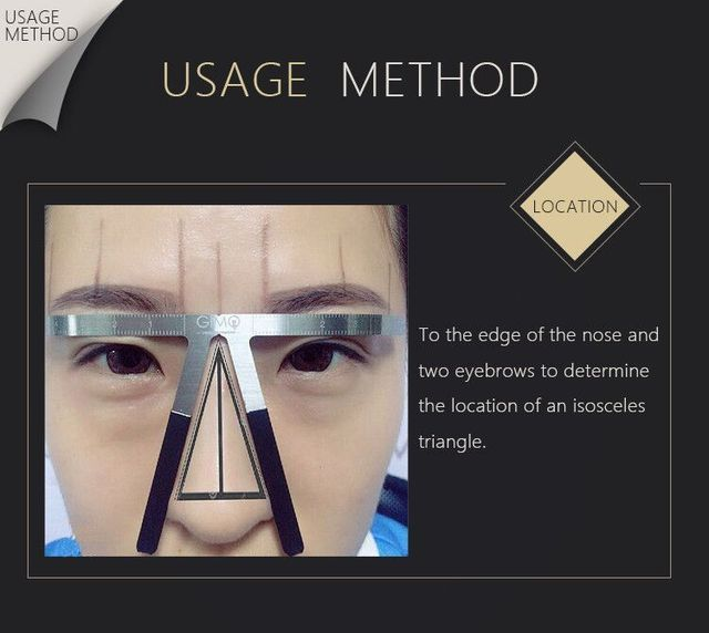 Biomaser Tattoo Eyebrow Ruler Three-Point Positioning Permanent Makeup Symmetrical tool Grooming Stencil Shaper Balance Ruler 2