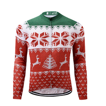 DREAMSPORT Factory Outlets Fast Dry Long Sleeve Men Bike Clothing Cycling Shirt Ropa Ciclismo Christmas Theme Jerseys Bicicleta