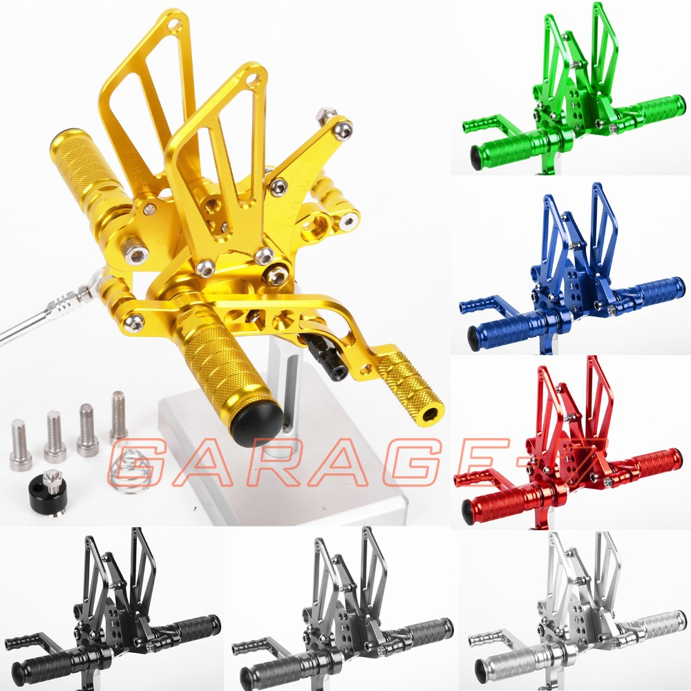 CNC Rearsets Foot Pegs Rear Set For Benelli BJ600GS 2010-2013 Golden Color 2012 2011 Motorcycle Accessories Hot Sale