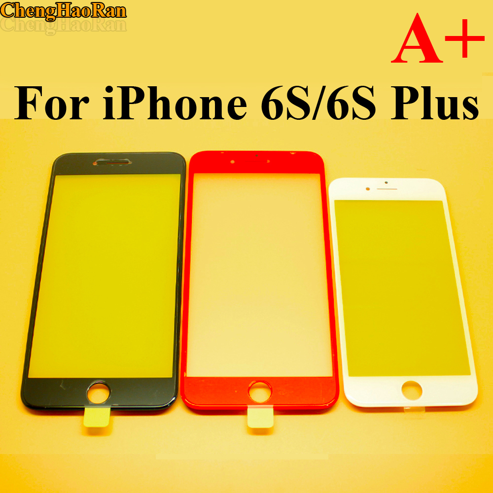 ChengHaoRan 6SPlus Repair parts LCD Front Touch Screen Glass Outer Lens with frame for iPhone 6S 6S Plus image
