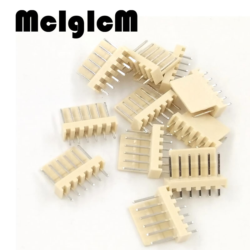 Free shipping 1000pcs male material KF2510 6pin 6pins Connector Leads pin Header KF2510 6A 2 54mm