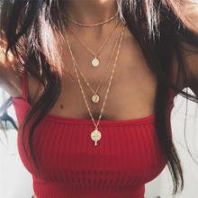 цены 2020 Woman Jewelry Multi Layer Good Quality Low Price Round Gold  Color Woman Girl Female Lady Fashion Necklace For Party