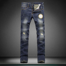 28 36 man s jeans men head embroidery new Little feet pants trousers designer brand pants