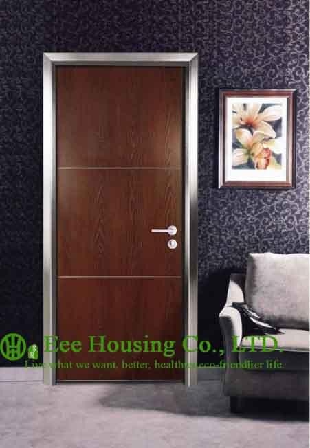 Portes d'hôtel en Aluminium modernes pour les chambres intérieures fabriquées en chine, porte de Restaurant en Aluminium