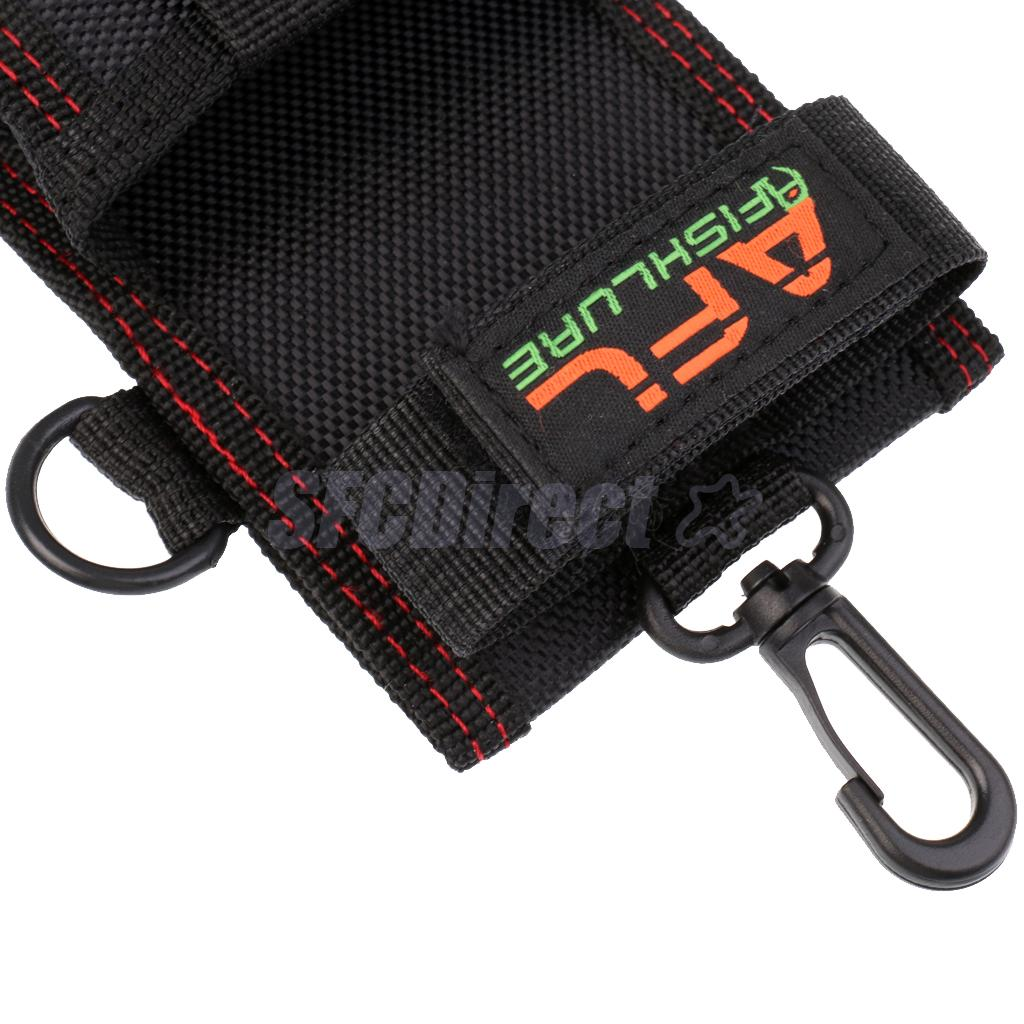 Multifunctional Fish Grips Bag Space-saving Pliers Tackle Tool Case Orgnizer with Snap Hook Black Fly Fishing Accessories