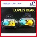 20 шт./лот Оптовая CLC04 Симпатичный Медведь Контактные Линзы Box & Case Мода Контактные Линзы Случае Поощрительный Подарок Бесплатная Доставка