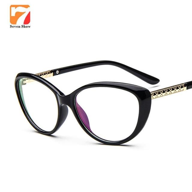 Clear Lens Glasses Cat Eye