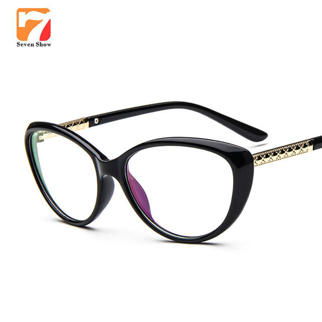 430fa954301 Designer Cat Eye Glasses Fashion Women Optical Prescription glasses Frame  Clear Lens Glasses Reading Vintage Eyewear