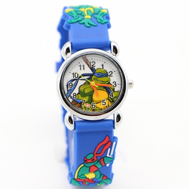 TMNT Fashion 3D Child Watch Silicon Cartoon desgin Kids Sport wristWatch Boy qua