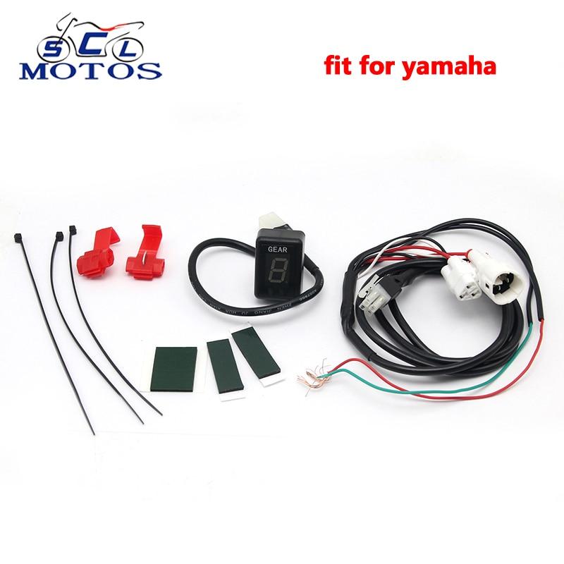 Sclmotos-Nouveau Plug Montage 1-6 Engins de Vitesse Indicateur de Vitesse Indicateur Fit pour Yamaha Moto EFI Moteur FZ6R XJ6 XJR400 MT03 YZF R6