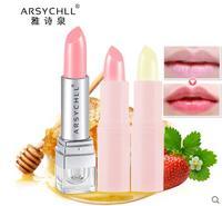 Arsychll Nhỏ màu dâu tây làm ẩm son dưỡng môi giữ ẩm giữ ẩm và giữ ẩm của phụ nữ nứt khô kéo dài