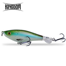 Kingdom 2019 New Whopper Plopper Fishing Lures 9cm 11cm Topwater Hard Baits Popper Soft Rotating Tail Wobblers Artificial Baits(China)