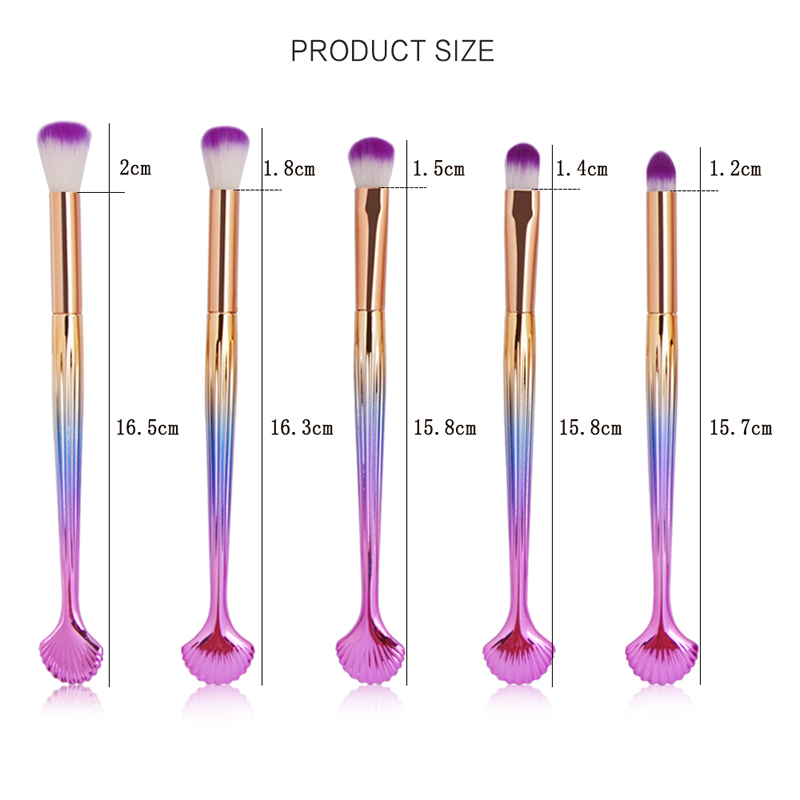 10Pcs Makeup Brushes Set Power Eye Shadow Brow Lip Concealer Fan Beauty Cosmetic Eyes Face Shell Make Up Brush Tool Kit 11.11 16