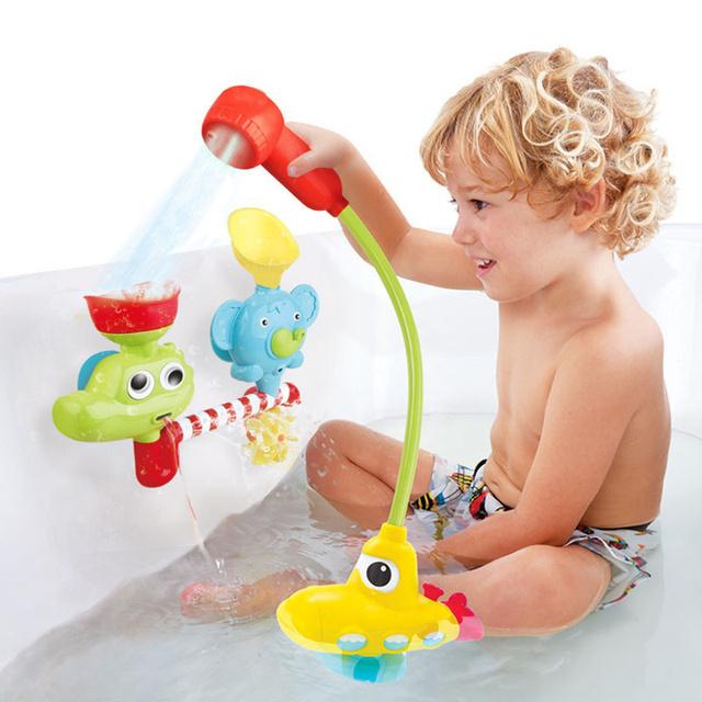 1 Peça Eletrônico Fountain bomba de água brinquedos Do Bebê Brinquedos Do Banho Do Bebê Elétrico submarino torneira Do Banheiro Crianças Brinquedos do presente do bebê