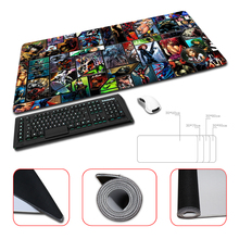 Rubber Anti slip Mice Mat DIY Design Pattern Computer Mousepad Gaming Mouse Pad Marvel Comics Design