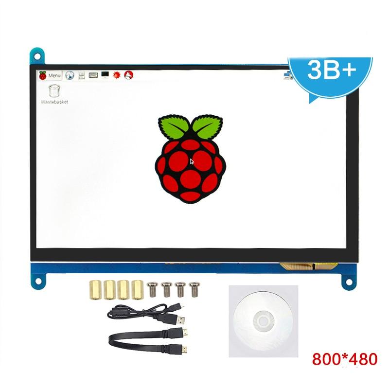7 pouce HDMI Capacitif LCD Affichage avec IPS Écran Tactile Moniteur 800*480 pour Raspberry Pi 3B/Pi 2B/B +/Pcduino Banane Pi