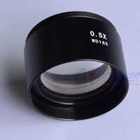 FYSCOPE SZM-0.5X AUXILIARY OBJECTIVE LENS FOR STEREO ZOOM MICROSCOPE WD 165mm