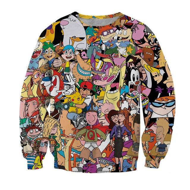 2017 European and American popular 3D sweatshirts The Walking Dead/Cat/Skull/Clown printed 3d hoody man women hip hop clothing