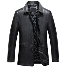 High Quality Mens Single Breasted Leather Jackets For Men Spring Brand Designer Business Leather Blazer Streetwear For Men C307