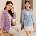 Spring and Autumn Korean small suit Korean fashion tie-dyed Slim suit jacket-do914
