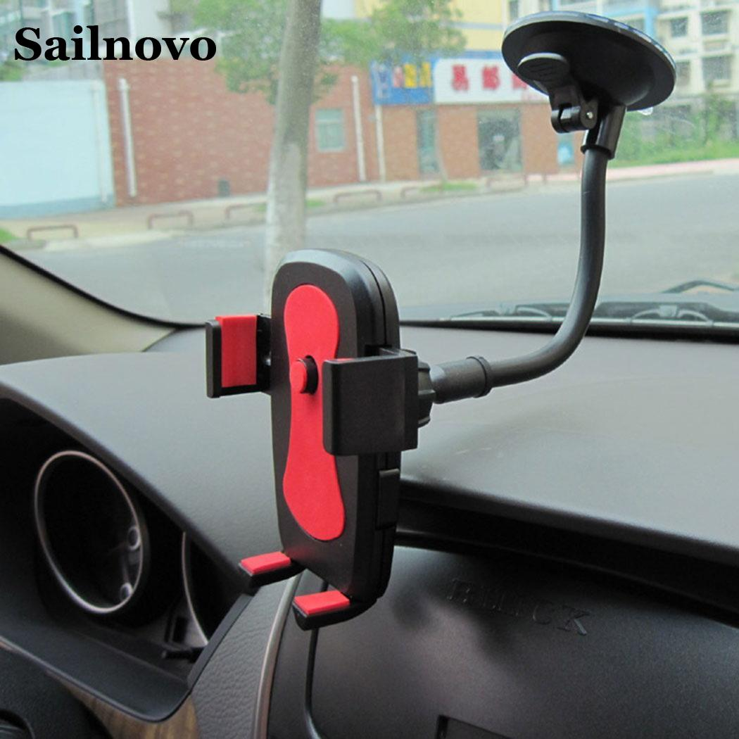 Universal Car Phone Holder Bracket Mount Cup Holder Universal Car Mount Mobile Suction Windshield Phone Locking Car Accessories