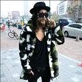 2017 Harajuku Korean Military Camouflage Mens Faux Fur Coats Cool Winter Fashion Jackets Brand Men Casual Jacket Coat Designer