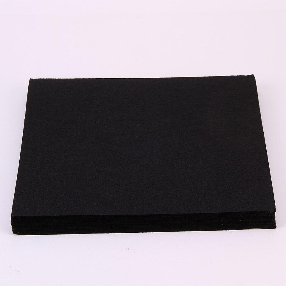 30x30 cm schwarz filz material tuch diy hand nähen vlies solid black ...