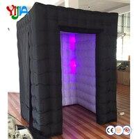 Высокое качество Хорошая цена 6*6 * 7.3ft надувной домик Светодиодный Надувные Photo Booth портативный фон для Свадебная вечеринка