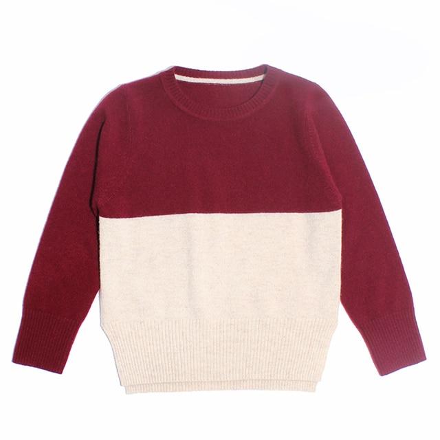 100 cashmere kids blue red Beige brand boys cashmere sweater cashmere sweater for boys 4 5 6 7 8 years long sleeve mink pullover