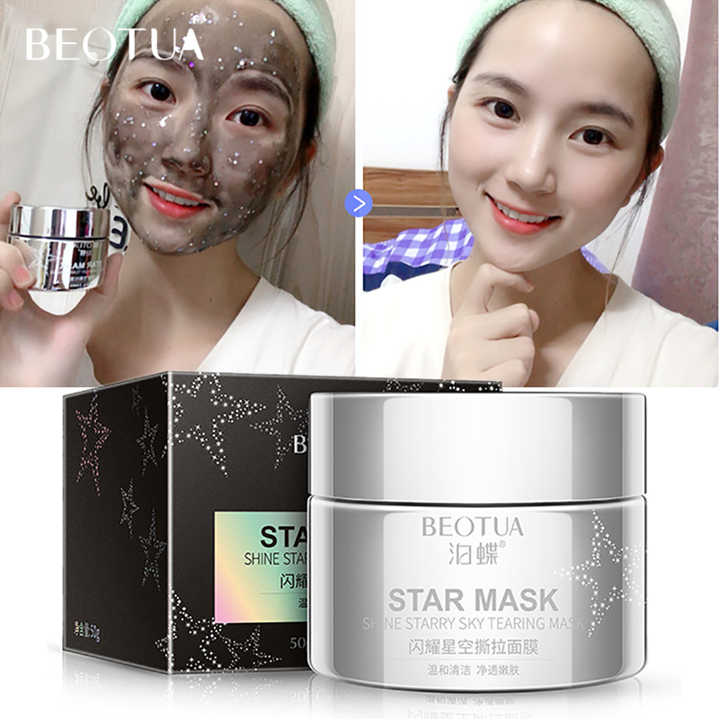 BEOTUA Deep Cleansing Purifying Gold Peel Off Black Face Mask Blackhead Remove  Moisturizing Oil Control Anti-Aging  Face Care