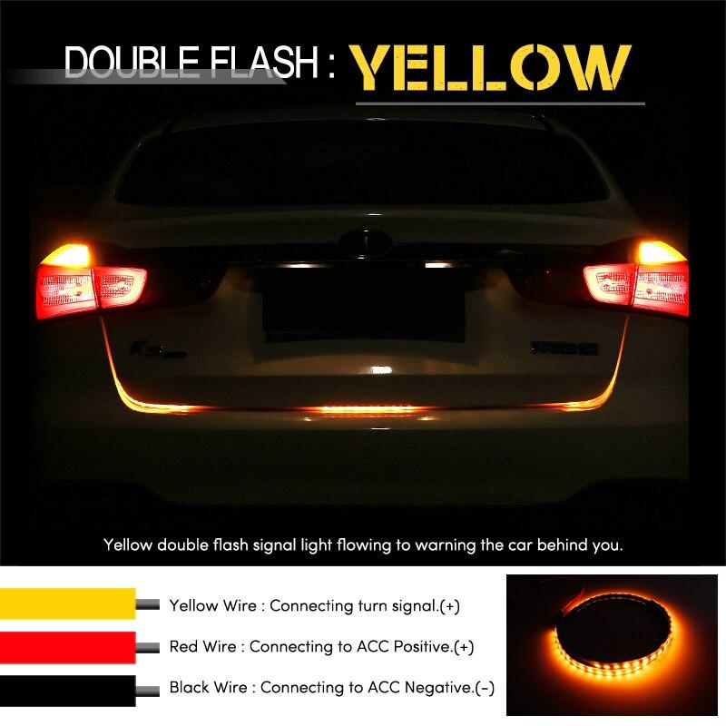OKEEN RGB ЧЕРВЕН Жълт бял заден опашка LED - Автомобилни светлини - Снимка 4
