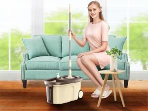 Image 5 - Fast Dispatch Mopล้อหมุนแผ่นรองพื้นล้างชั้นผ้าทำความสะอาดบ้านMopสำหรับทำความสะอาดพื้นWindowsทำความสะอาดบ้านไม้กวาด