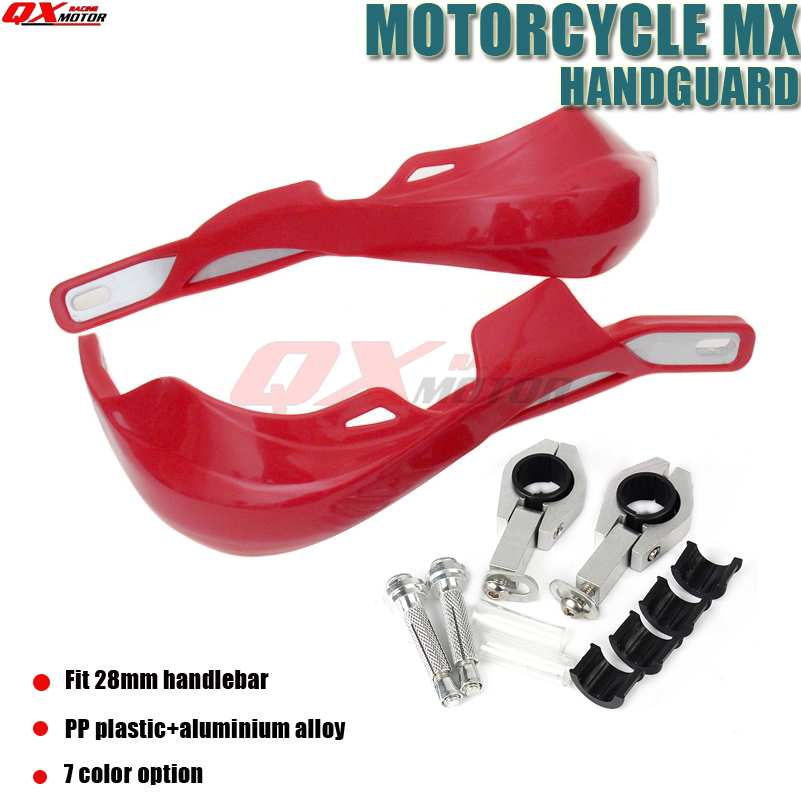 मोटरसाइकिल मोटोक्रॉस डर्ट बाइक हैंडलबार हैंडगार्ड्स हैंड गार्ड्स फ़िट EXC CRF YZF KXF 1-1 / 8mm मिमी बार