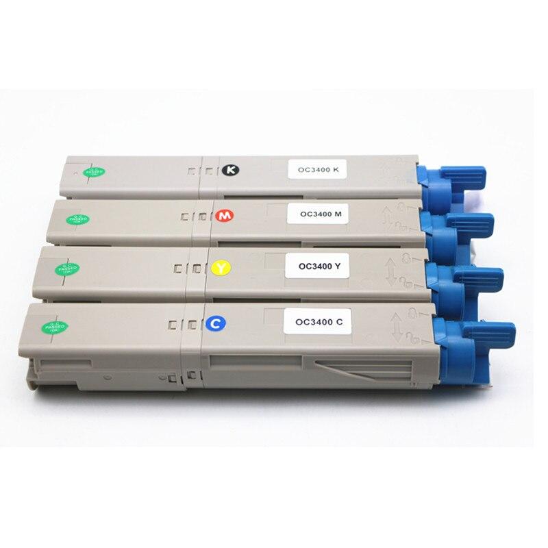 Cartouche de Toner Laser couleur pour OKI C3300 C3300N C3400 C3400N C3520 C3530MFP C3600N imprimante Laser, toner 4 couleurs/lot