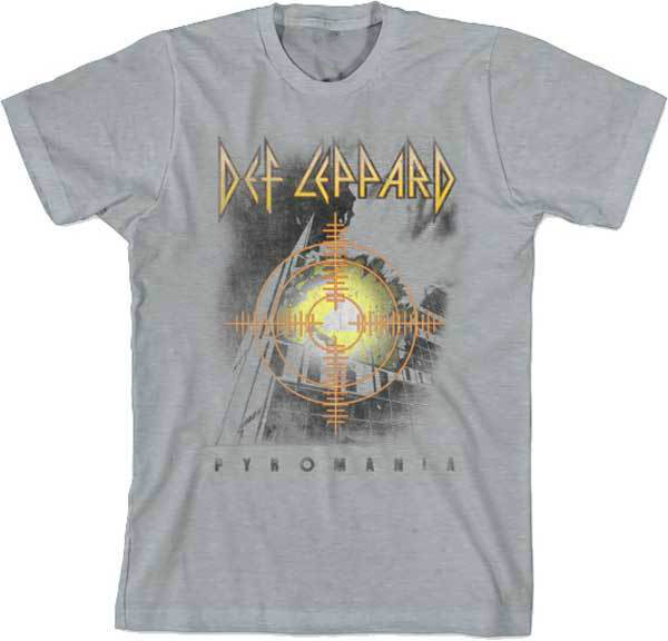 DEF LEPPARD Target Pyromania T SHIRT Brand New Official T Shirt compression