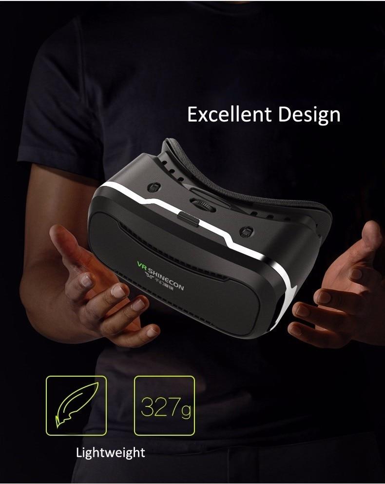 VR Shinecon 2.0 Google Cardboard VR BOX 2.0 Virtual Reality goggles VR 3D Glasses Immersive for 4.5-6.0 inch smartphones 32