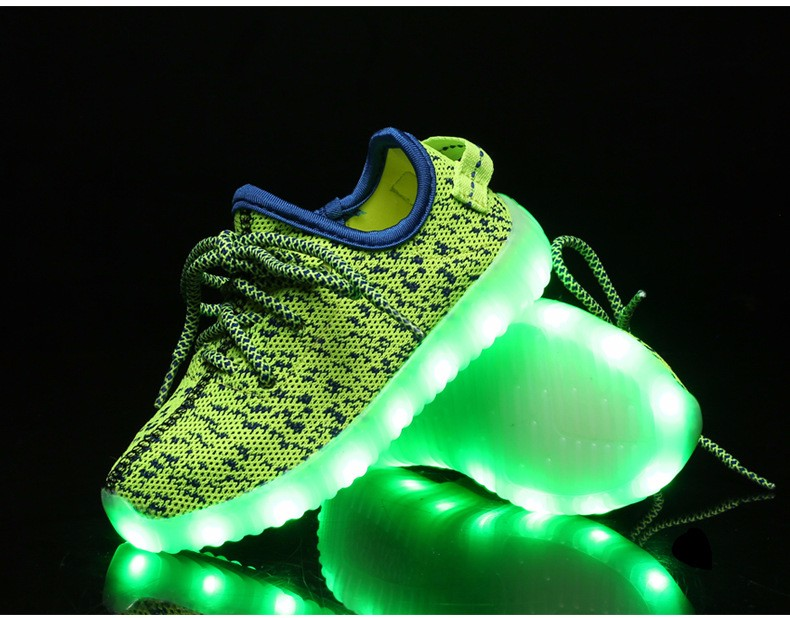 2016 NEW Children Luminous Sneakers USB Charging Kids LED Luminous Shoes Boys Girls of Colorful Flashing Lights Sneakers (6)