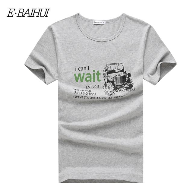 c3cd5fc1d9c9 E-BAIHUI t-shirts new 2017 mens t shirt print summer o-neck casual cotton  fashion men t-shirt swear breathe tee shirt T003