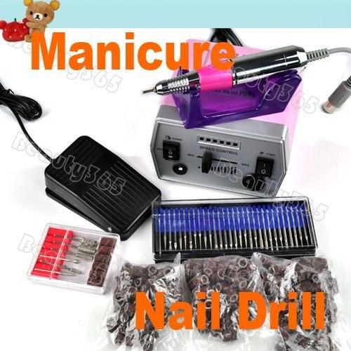 Pro 3000 RPM Electric Nail Art Drill Manicure Set  File Improved Overheat + Vibration US Plug 10