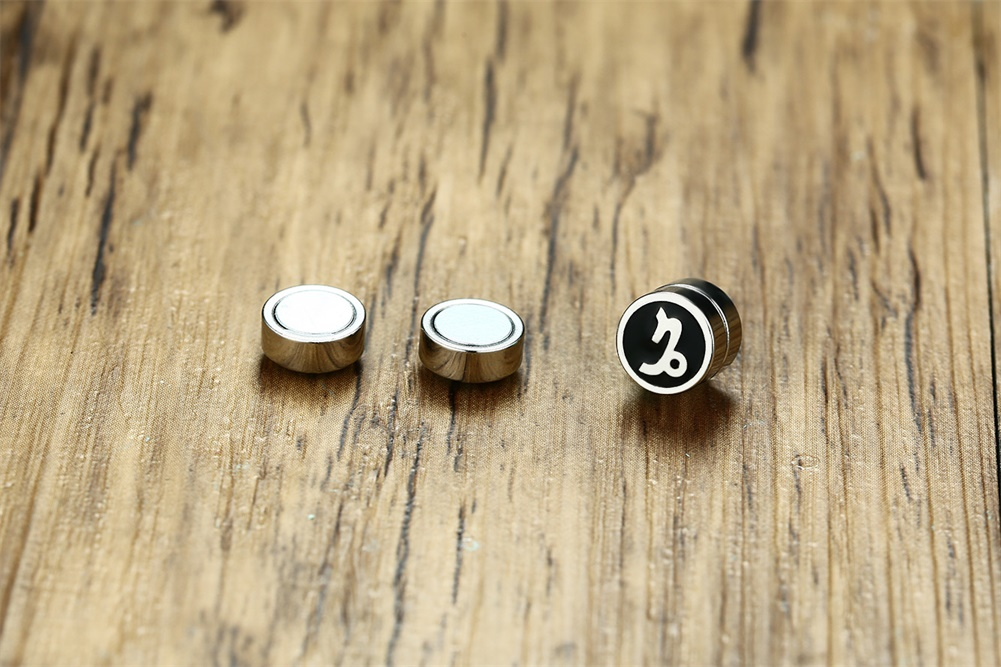 Horoscope Magnetic Earrings for Men