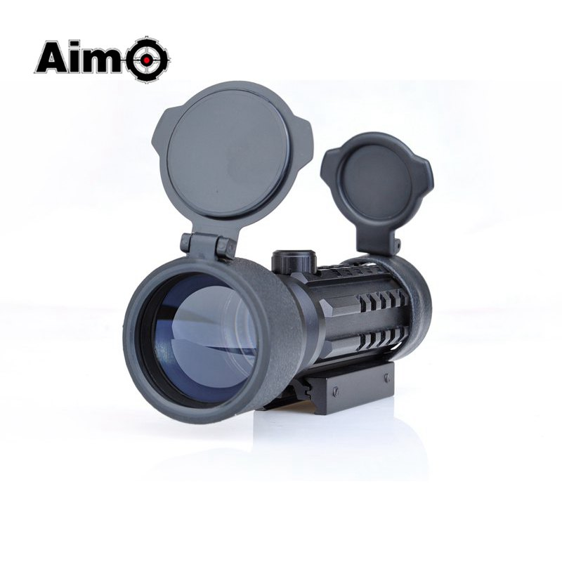 Aim-O Red Dot hunting Rifle Scope Optics Sight 2x42 11mm or 20mm Weaver Mount Rail Hunting Optics Riflescopes AO3013 vector optics condor 2x42 red and green dot rifle scope sight with 20mm weaver mount base for hunting 12ga shotgun 22 rifle