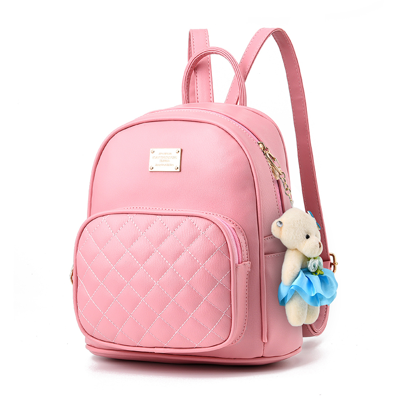 fashion Women Backpacks fashion popular stitch bow PU leather leather color female teenager casual travel School
